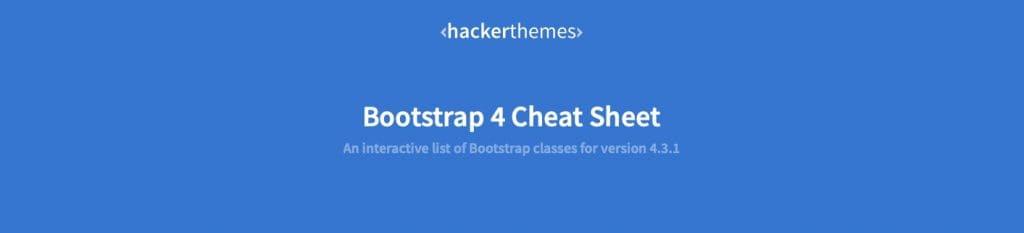 CSSフレームワーク Bootstrap 4 チートシート